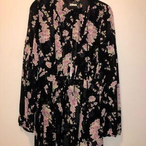 Reformation long sleeve short mini dress
